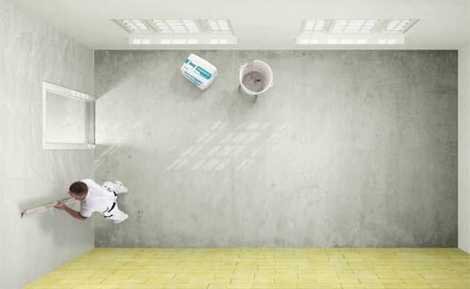 Gipspleister voor natte woonruimtes is 6 keer meer waterafstotend
