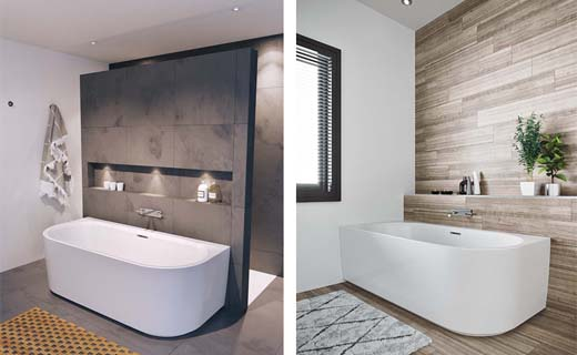Inloopdouche Met Ligbad : Een vrijstaand bad past in elke badkamer bouwenwonen.net