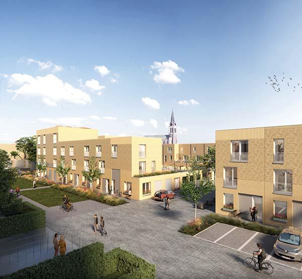 nieuwbouwproject RUTE in Gentbrugge