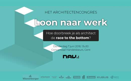 Architectencongres behandelt thema 'Loon naar werk'