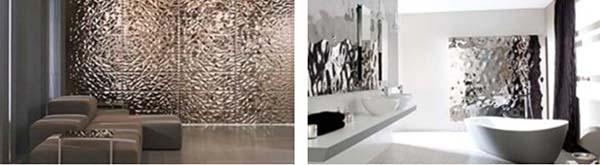 3D tegels creëren een trendy look
