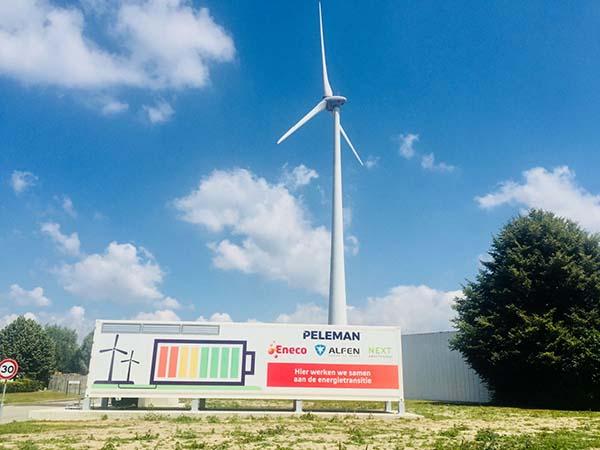 Industriële batterij verhoogt lokaal verbruik van windenergie