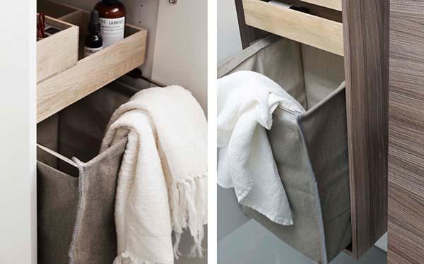 Houd de badkamervloer vrij