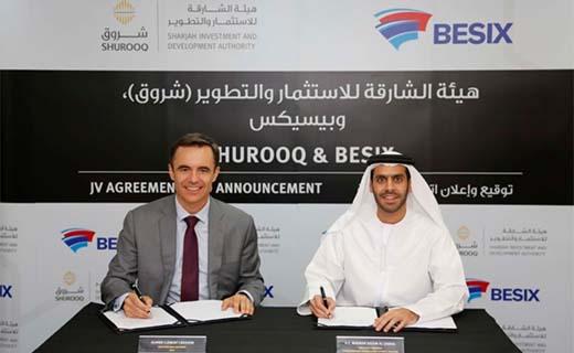 Shurooq en BESIX investeren samen in waterzuiveringsstation in Sharjah