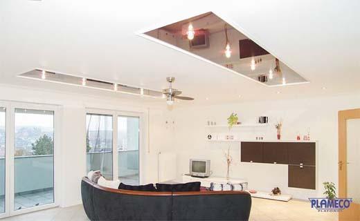 Creëer een moderne look in het interieur met een spanplafond