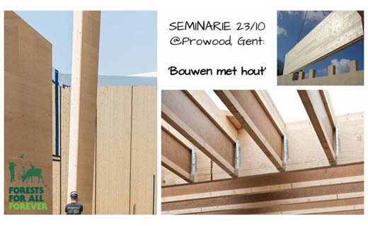 Seminarie 'Bouwen met hout' @Prowood 2018