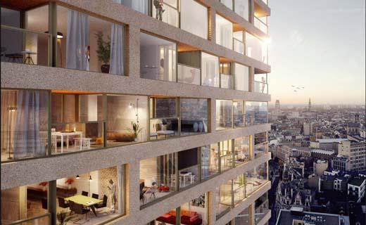 Antwerp Tower: Verkoop van iconische woontoren gaat van start