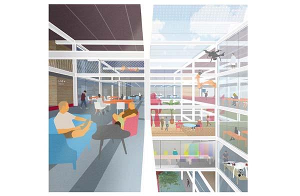 Benthem Crouwel Architects ontwerpt multifunctioneel gebouw voor de Universiteit van Amsterdam