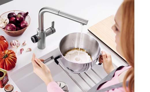 De Volumekraan van Blanco kan hoeveelheden water exact afmeten