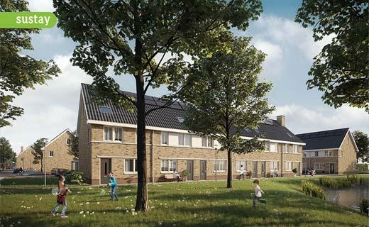 Sustay start met de realisatie van 44 nul op de meter huurwoningen in Waalwijk