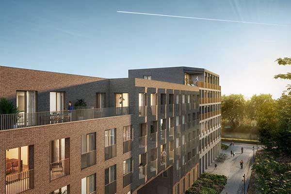 Stormloop op toekomstige woonwijk Komet in Mechelen