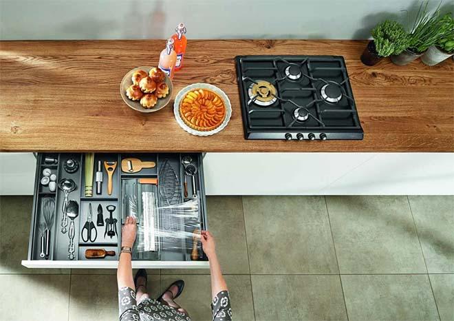 Blum op Batibouw: RIP legplank, de moderne keuken wil lades