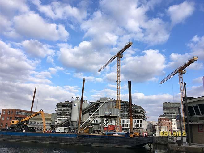 Tijdelijke mobiele betoncentrale voor project A5 Cadix in Antwerpen
