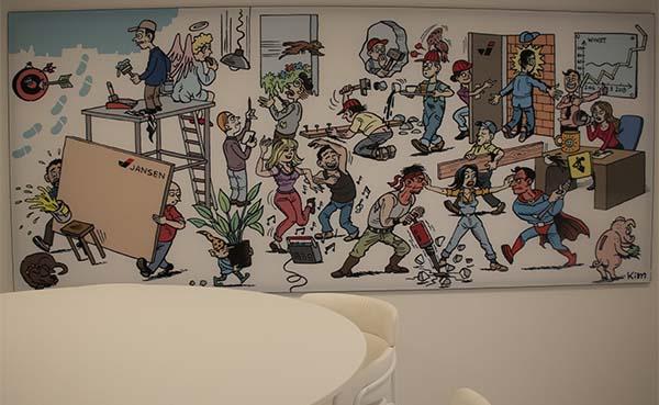 Duchateau-cartoon verhoogt productiviteit en creativiteit bij Jansen