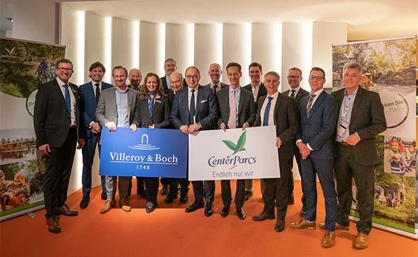 Langdurige samenwerking voor Villeroy & Boch en Center Parcs
