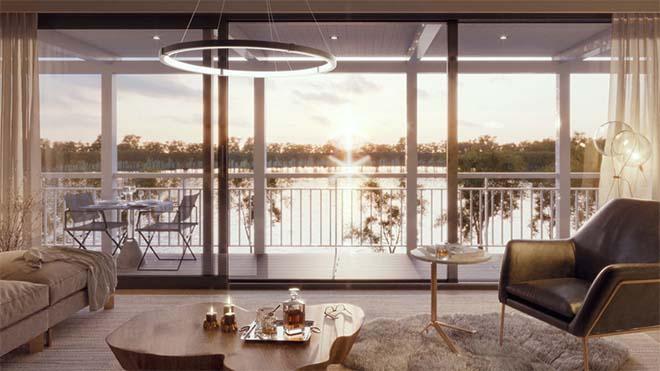 De nieuwe woonwijk aan het Duinenwatermeer in Knokke