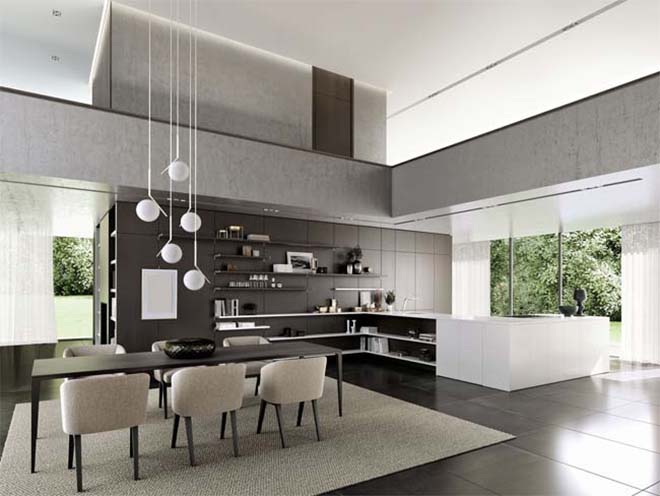 Siematic - FloatingSpaces verbindt keuken en woonruimte