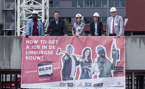 Nieuwe app leidt werkzoekende arbeiders naar de bouwsector