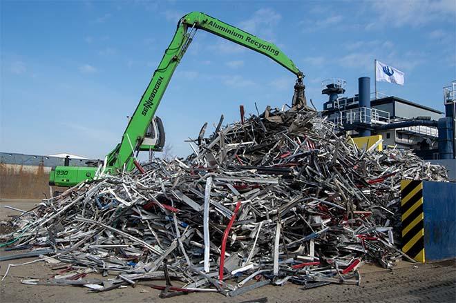 Duurzame vliesgevel uit gerecycleerd aluminium