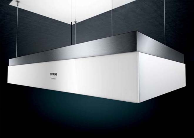 Siemens - In hoogte verstelbare plafonddampkap