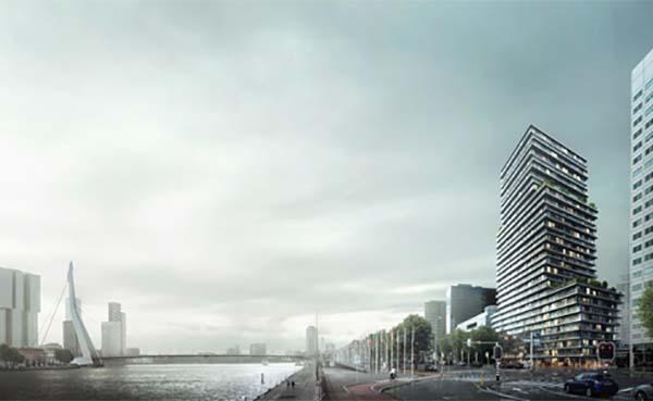 The-Terraced-Tower-in-Rotterdam-het-toonbeeld-van-het-concept-Gestapeld-Geluk