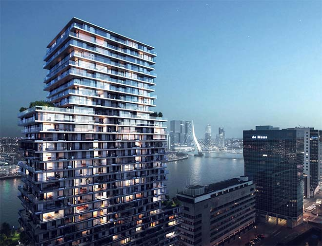 The Terraced Tower in Rotterdam