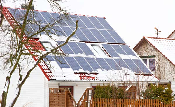 Zonnepanelen in de winter