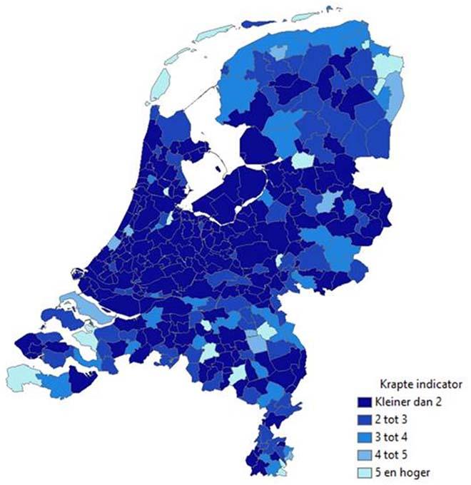 De krapte op de Nederlandse woningmarkt voor woningen tussen 160 en 260 duizend euro