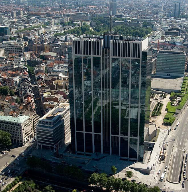 Financietoren in Brussel verkocht voor meer dan 1,2 miljard euro