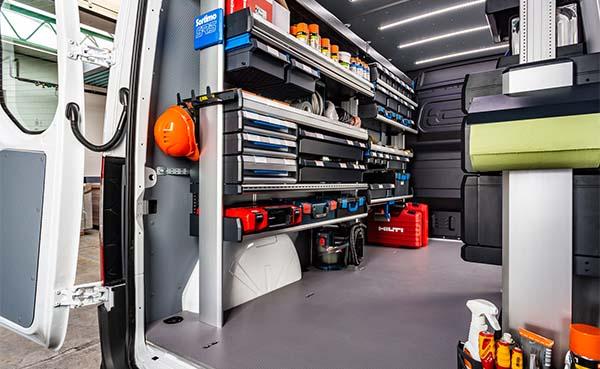 Voertuiginrichting - de optimale oplossing voor bedrijfswagens