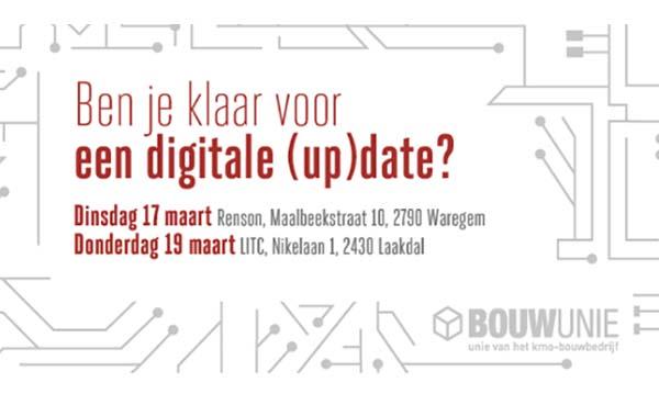 Bouwunie organiseert digitale (up)date voor aannemers