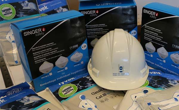 De Regie der Gebouwen schenkt 300 FFP3 maskers aan de ziekenhuizen