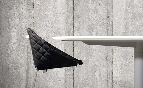 Een industriële touch met betonlook behang