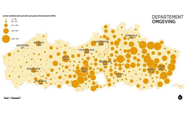 Meer dan 43.000 hectare aan onbebouwde woonpercelen in Vlaanderen