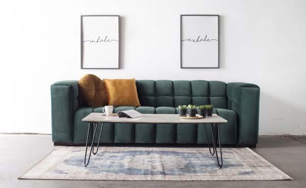 Stijlvol interieur met een marmeren salontafel