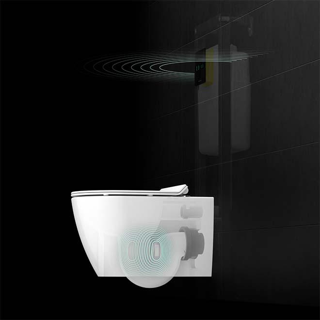 IPEE: nieuw uniek aanraakvrij en slim gespoeld toilet