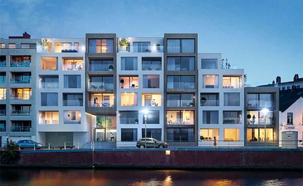 Nieuw woonproject in Kortrijk speelt vol in op wonen aan het water