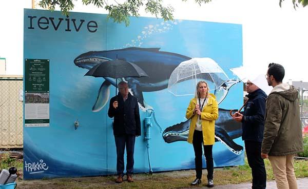 Inwoners Oudenaarde kunnen gratis gerecycleerd grondwater halen aan Saffrou-werf
