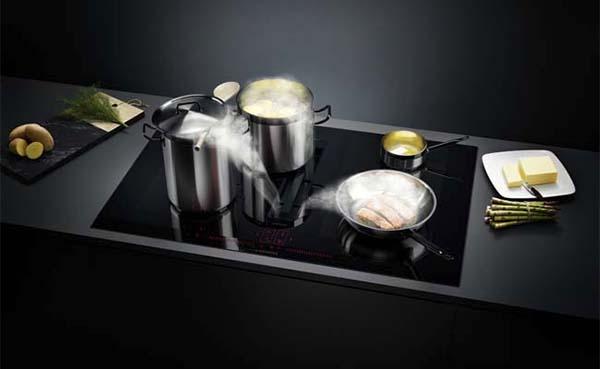Nieuwe inductionAir kookplaat met afzuiging