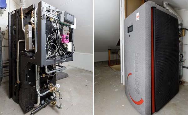 Woning eenvoudig aardgasvrij met hoge temperatuur warmtepompsysteem