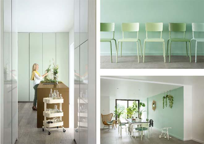 Belg bekent kleur: braaf in de slaapkamer, gedurfder in de keuken