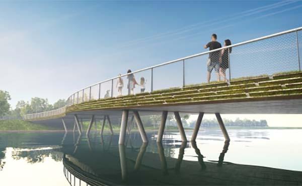 Almeerse reststromen geven karakter aan circulaire bruggen op Floriade park