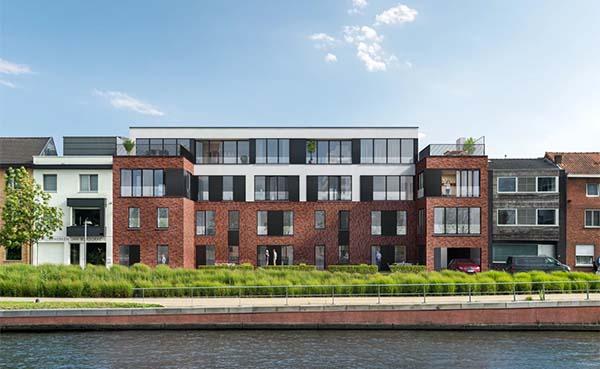 Oud Administratief Centrum in Kortrijk maakt plaats voor modern wooncomplex