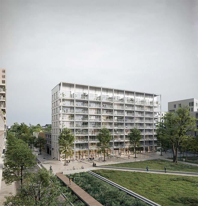 B-architecten – VELD wint de wedstrijd voor City Dox Brussel