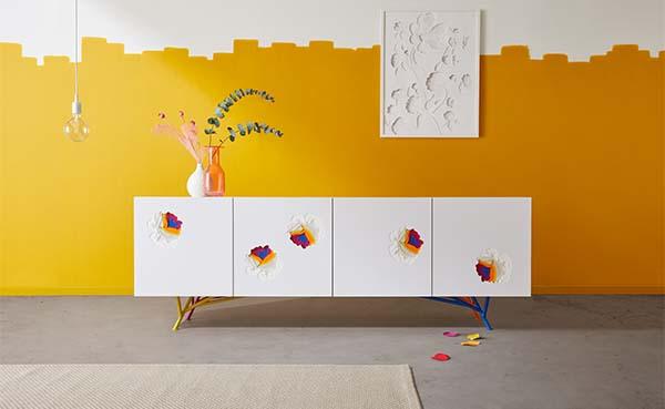 Verbluffend meubelontwerp dat gebruik maakt van het superpositie-concept