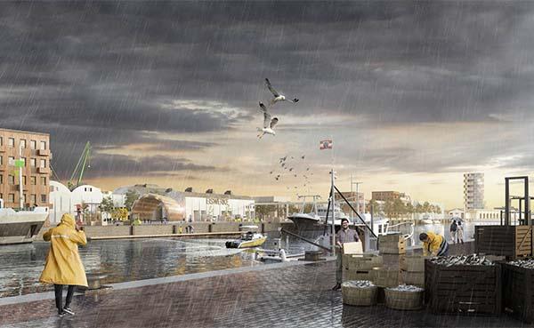 Een veerkrachtig plan voor een haventransformatie in Bremerhaven