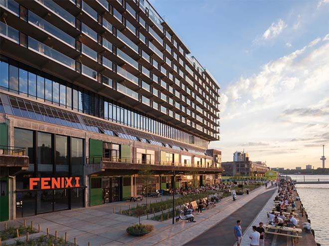 Tien architectuurprijzen voor getransformeerde havenloods Fenix I