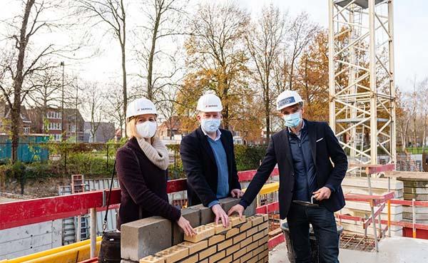 Stad Mechelen legt eerste steen van de nieuwe Komet-wijk