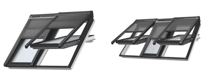 Velux introduceert het 2-in-1 en 3-in-1 dakvenster