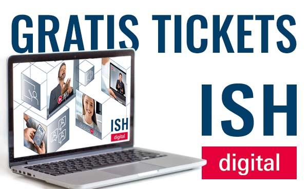 Bestel gratis tickets voor ISH Digital 2021